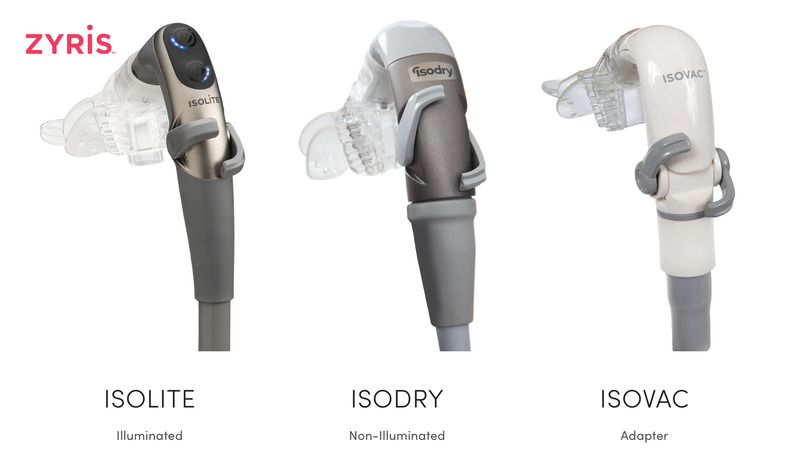 Infographic showing each component of our dental isolation system
